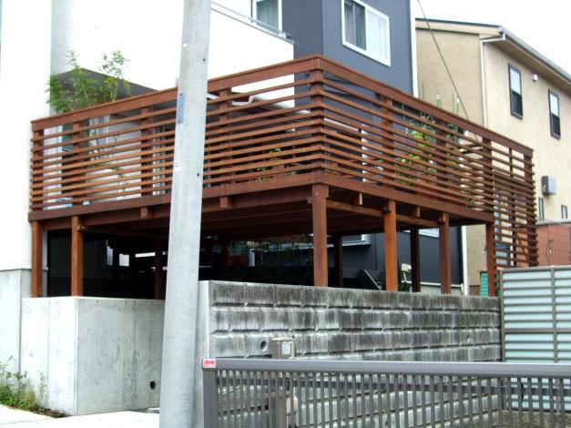 ランタン ウッドデッキ デッキ テラス エクステリア ガーデン 外構 お庭 Lantern ランタン 町田市 成瀬
